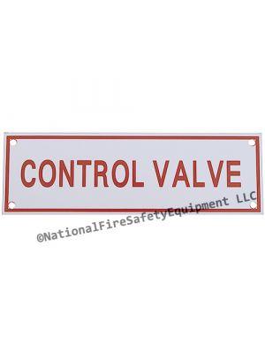 CONTROL VALVE Sprinkler Aluminum Sign
