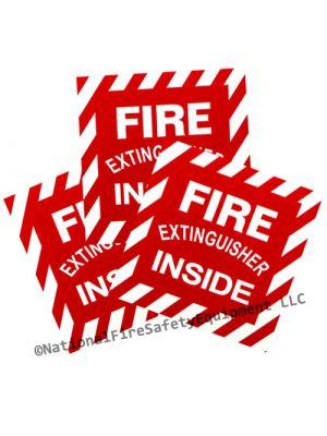 Vinyl Fire Extinguisher Inside Decal