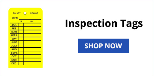 Inspection Tags for Fire Extinguishers or Fir Hoses